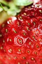 Preview iPhone wallpaper Strawberry macro photography, hazy