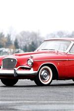 Studebaker 1957 red car