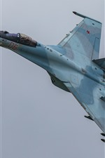 Preview iPhone wallpaper Su-35S multipurpose fighter flight