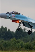 Preview iPhone wallpaper Su-35S multipurpose fighter take off