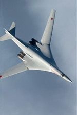 Preview iPhone wallpaper Swan, Russian fighter, sky, clouds