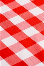 Preview iPhone wallpaper Tablecloth, red and white stripes