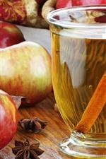 Tea, red apples