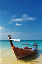 Preview iPhone wallpaper Thailand, sea, beach, boats, blue sky
