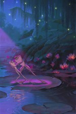 Preview iPhone wallpaper The Princess and the Frog, cartoon movie