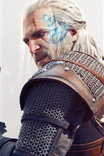 Preview iPhone wallpaper The Witcher 3: Wild Hunt, look back, sword