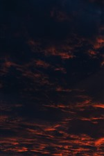 Preview iPhone wallpaper Thick clouds, sunset