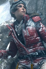 Preview iPhone wallpaper Tomb Raider, Lara Croft, glasses, jacket, snow