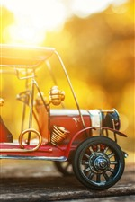 Preview iPhone wallpaper Toy car, model, sunset