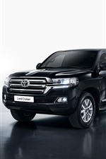 Toyota Land Cruiser, black SUV car