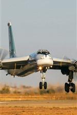 Preview iPhone wallpaper Tu-95MS Bomber landing