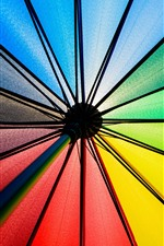 Preview iPhone wallpaper Umbrella, colorful fabric, rainbow colors