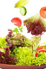 Preview iPhone wallpaper Vegetable, cabbage, white background