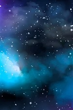 Preview iPhone wallpaper Watercolor, space, stars