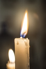 Preview iPhone wallpaper White candles, flame, fire