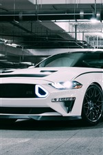 Preview iPhone wallpaper 2018 Ford Mustang RTR white supercar