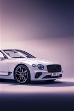 Preview iPhone wallpaper 2019 Bentley Continental GT Convertible side view
