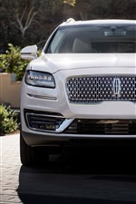 2019 Lincoln Nautilus white SUV car front view