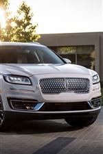 미리보기 iPhone 배경 화면 2019 링컨 노틸러스 흰색 SUV 자동차