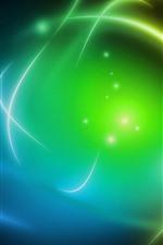 iPhone fondos de pantalla Fondo abstracto, azul y verde, luz brillante.