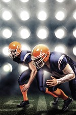 Preview iPhone wallpaper American football, athletes, hats, sport