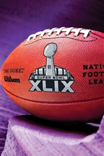 Preview iPhone wallpaper American football, purple background