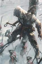 Assassin's Creed, Ubisoft, soldados, árvore, inverno