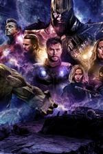 Preview iPhone wallpaper Avengers: Endgame, DC Comics movie 2019