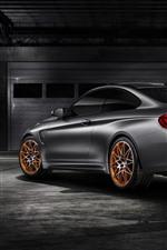 미리보기 iPhone 배경 화면 BMW M4 GTS 실버 자동차 후면보기