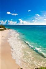 Preview iPhone wallpaper Beach, blue sea, sunshine, tropical