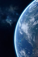 Preview iPhone wallpaper Beautiful Earth, blue planet
