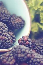 Preview iPhone wallpaper Blackberries, cup, hazy