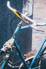 Preview iPhone wallpaper Blue bike