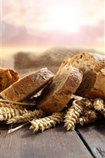 Preview iPhone wallpaper Bread slice, wheat