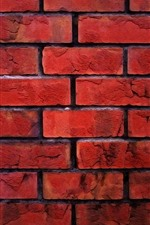 Preview iPhone wallpaper Bricks, wall, texture