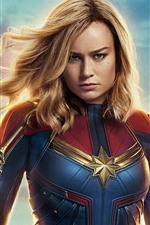 Preview iPhone wallpaper Brie Larson, Captain Marvel 2019