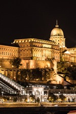 Preview iPhone wallpaper Budapest, Hungary, Buda Palace, buildings, illumination, night