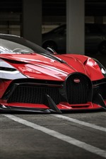 Preview iPhone wallpaper Bugatti red supercar