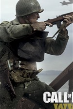Preview iPhone wallpaper Call of Duty: WWII, video games