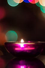 Preview iPhone wallpaper Candle, flame, bowl, glare