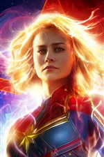 Preview iPhone wallpaper Captain Marvel 2019