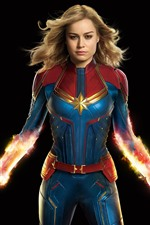 Preview iPhone wallpaper Captain Marvel, superhero, DC Comics