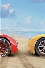 Carros 3, carro vermelho e amarelo