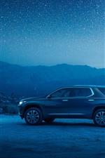 Chevrolet Traverse SUV coche, noche, estrellado