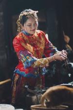 Casa de té china mujer