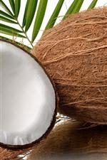 Preview iPhone wallpaper Coconut, half, fruit