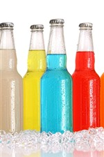 Preview iPhone wallpaper Colorful bottles, drinks, ice cubes