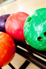 Preview iPhone wallpaper Colorful bowling balls