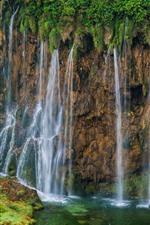 Preview iPhone wallpaper Croatia, Plitvice Lakes National Park, beautiful waterfall