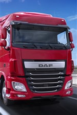 Preview iPhone wallpaper DAF red truck
